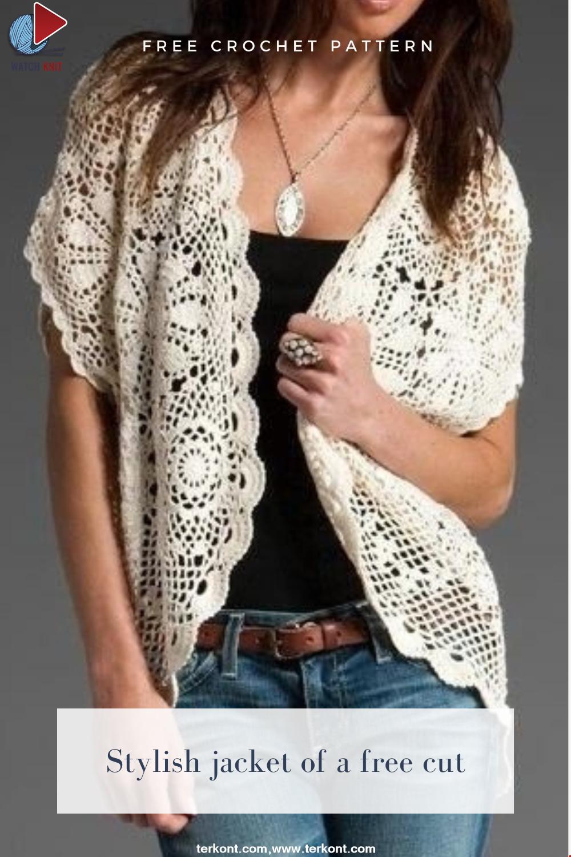 Stylish jacket of a free cut