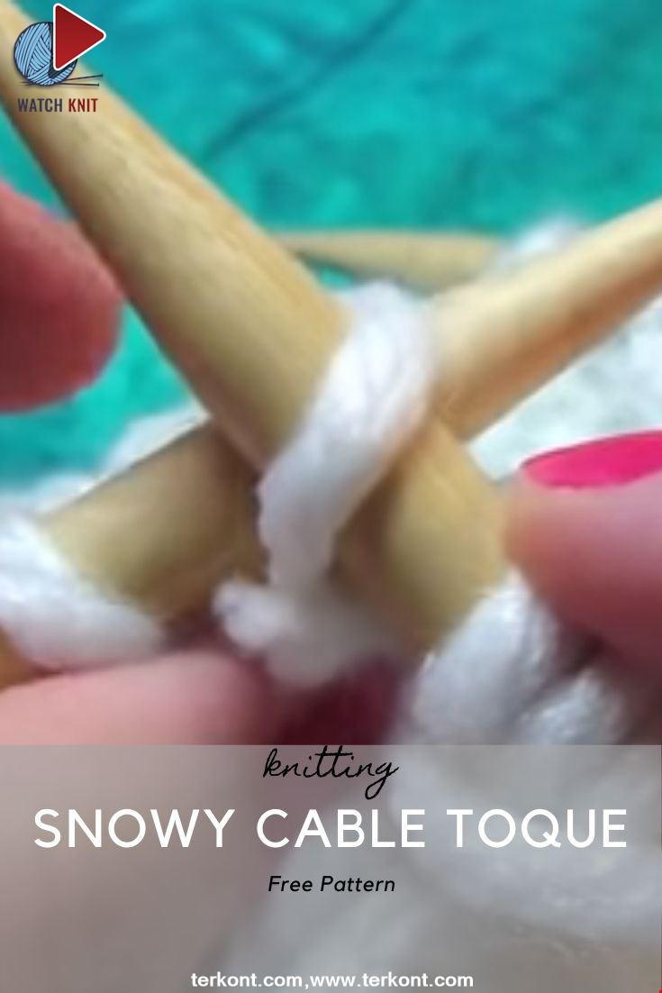 SNOWY CABLE TOQUE