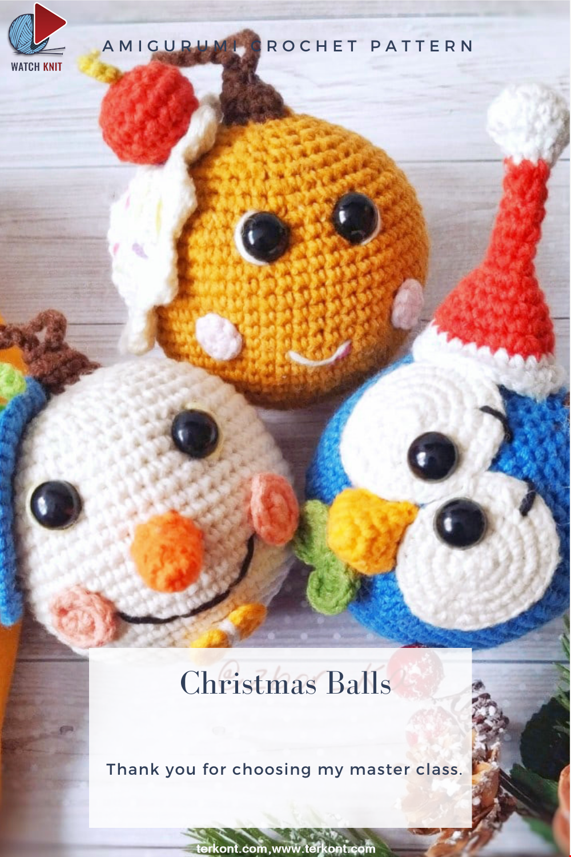 Amigurumi Christmas Balls Crochet Pattern